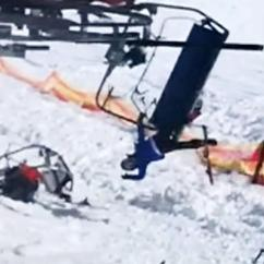 Old People Chair Lift Expensive Dining Chairs Dramatic Video Shows Ski Running Out Of Control Sending Skiers Flying Into The Air