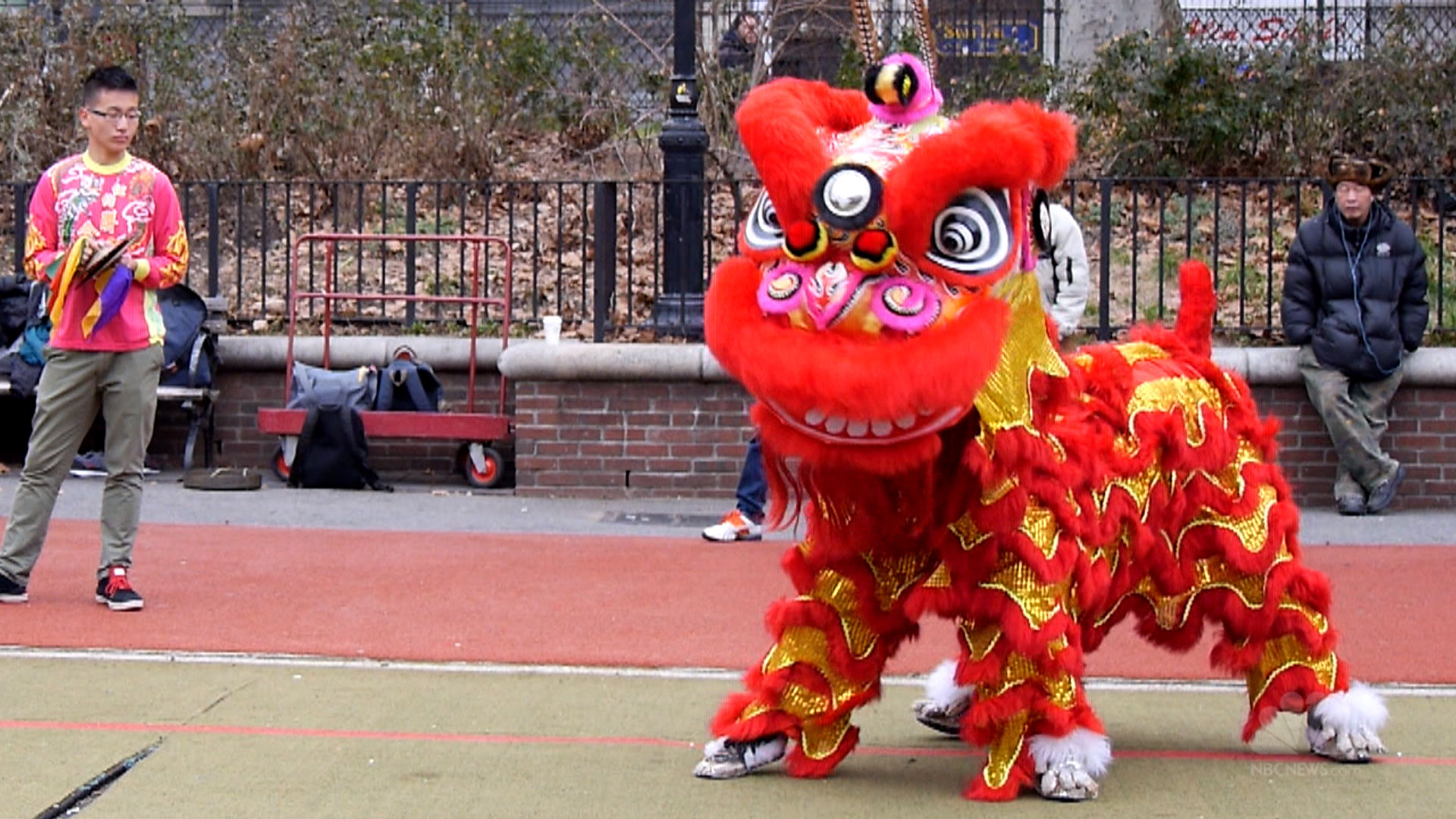 Snow Girl Wallpaper Hd Lion Dancers Prepare To Ring In The New Year Nbc News