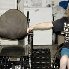Tank Chair Wheelchair Glider Walmart Veteran Invents To Help His Paralyzed Wife