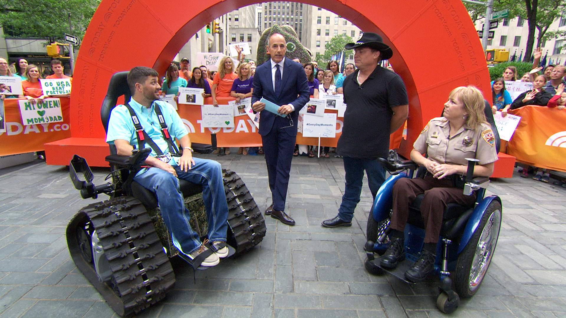 tank chair wheelchair 6 patio set husband invents tankchair for paralyzed wife today com