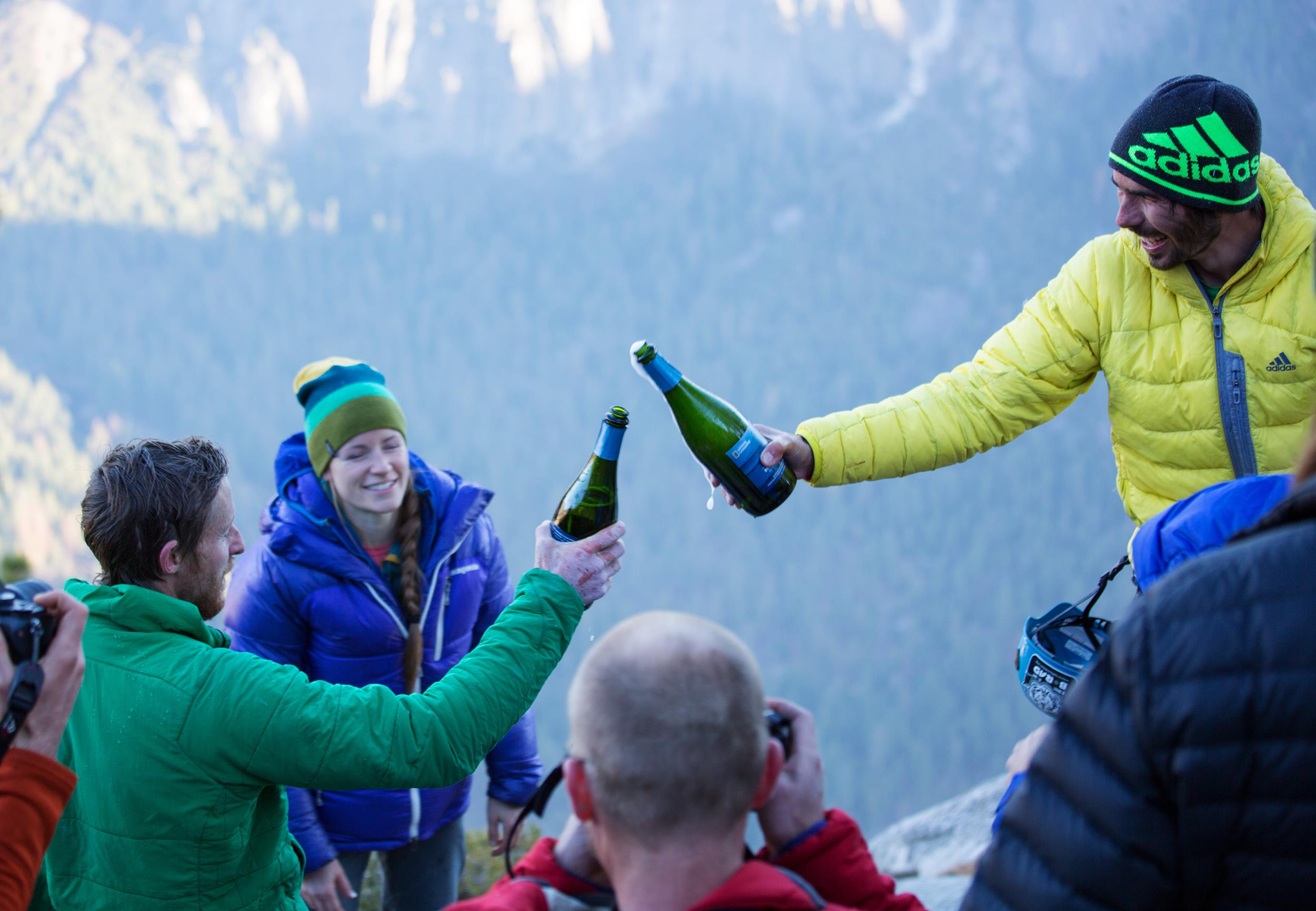 Tommy Caldwell Alex Honnold Kevin Jorgeson Dawn Wall Champagne Free