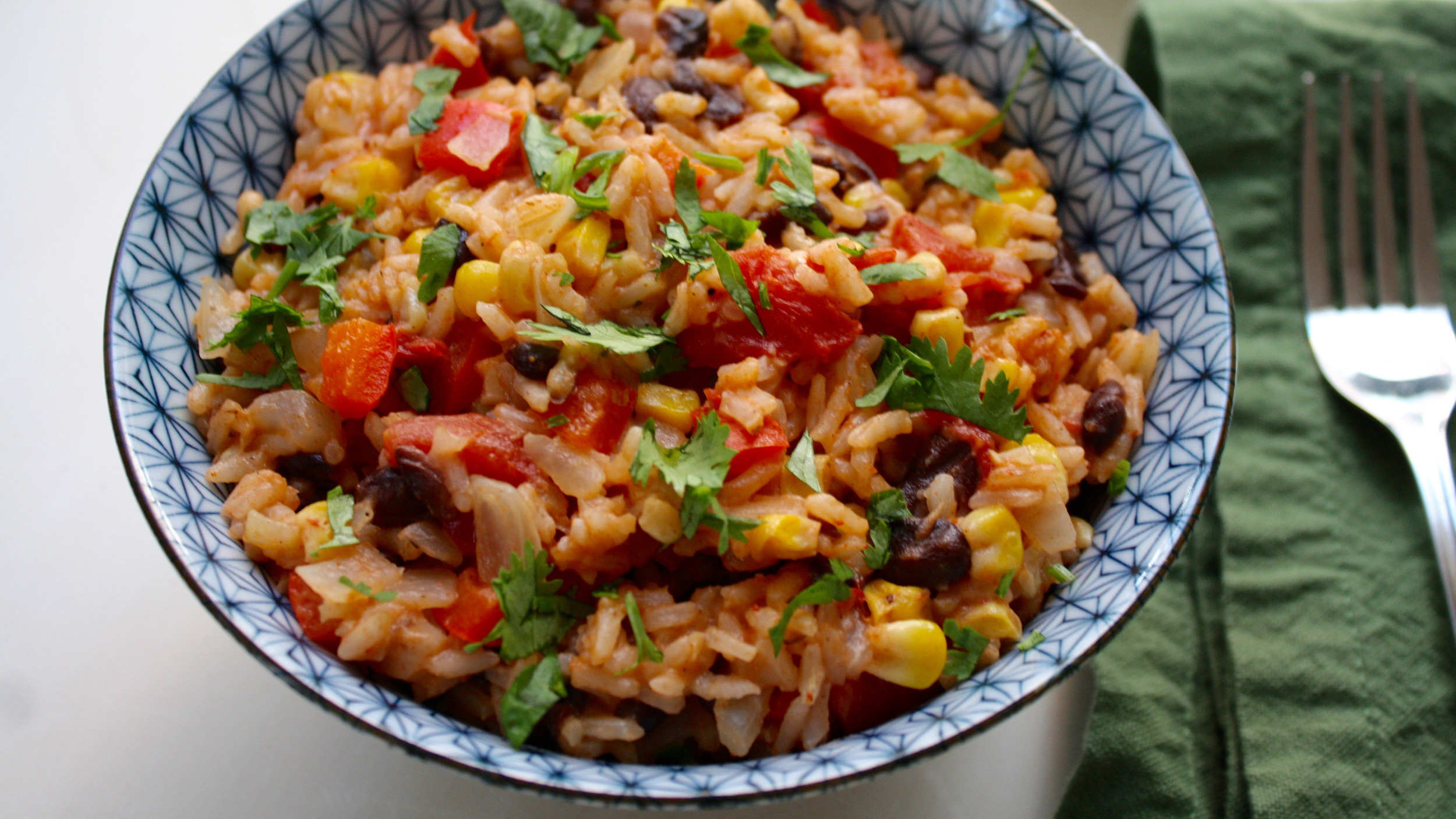 One Pot Mexican Rice With Black Beans And Corn
