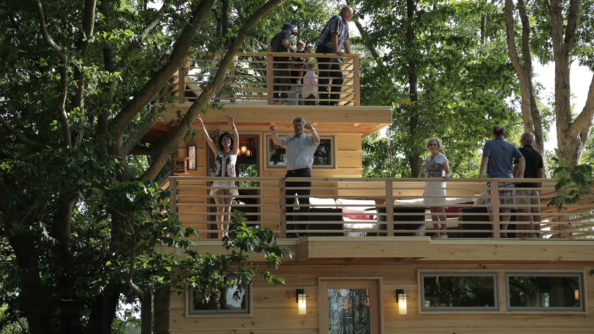 Treehouse Masters Frank Lloyd Wrightinspired treehouse