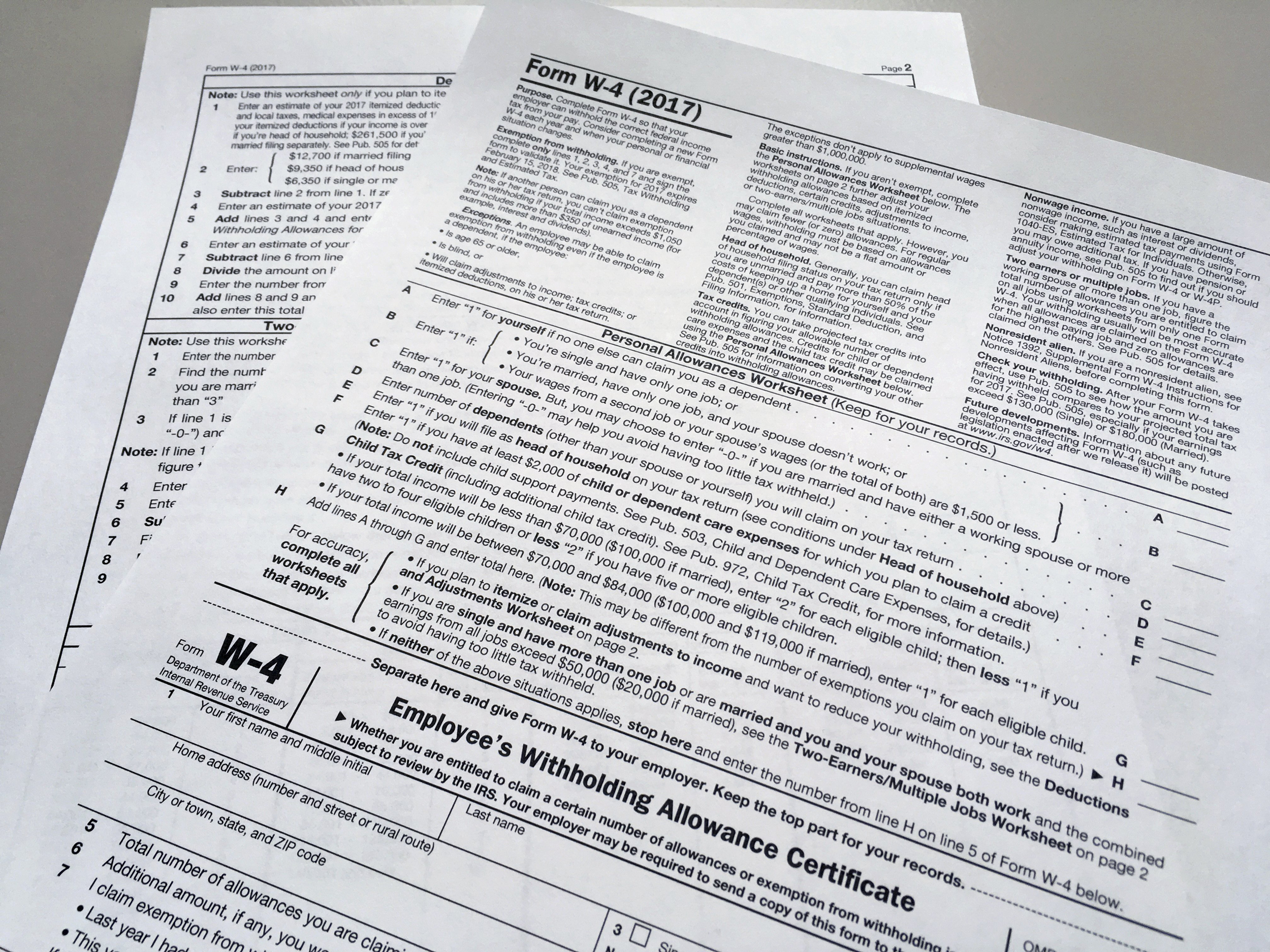 State Of Ohio Income Tax Withholding Tables