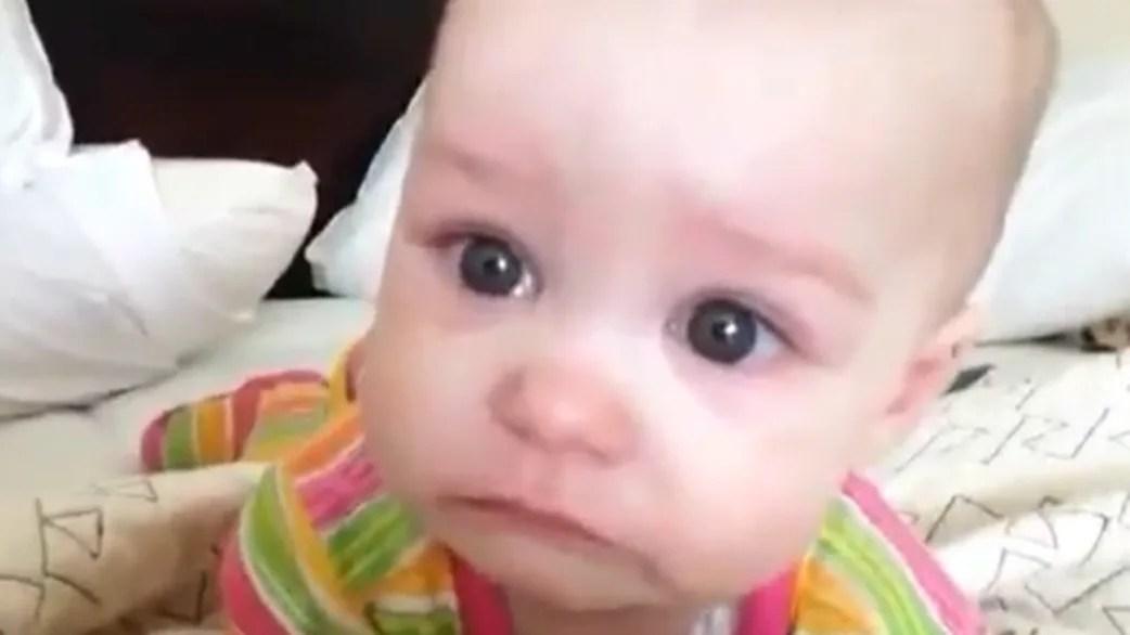 waah baby cries when