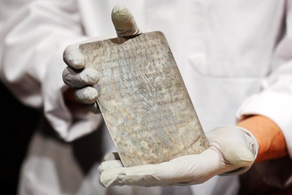 Massachusetts Officials Open 220-year- Time Capsule