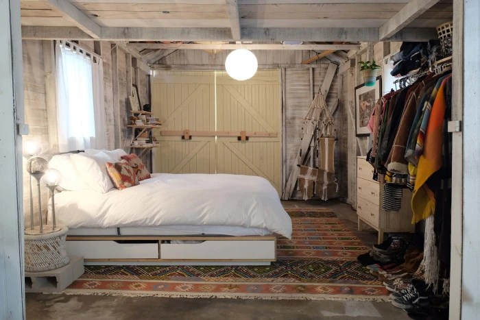 see a dingy garage transform into the coolest bedroom ever - today