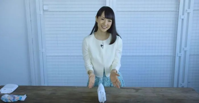 kitchen carpets storage baskets marie kondo shows how to properly fold a shirt, camisole ...