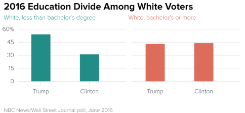 Image result for trump uneducated voters