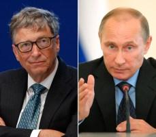 Microsoft co-founder Bill Gates and Russian President Vladimir Putin