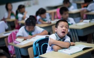 Image: Chinese children attending class