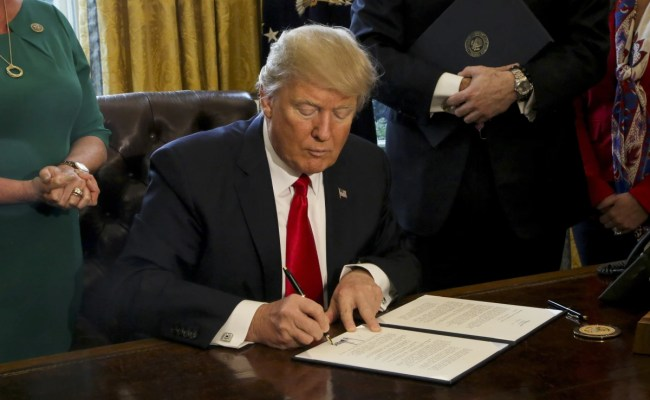 With Executive Orders Trump Embraces Time Honored Power
