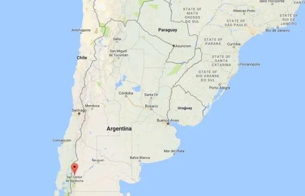 Image: Map showing Lake Melinquina