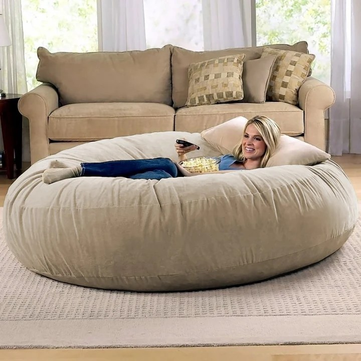 big joe cuddle chair cowhide desk the lovesac pillow and other comfy chairs to try this winter