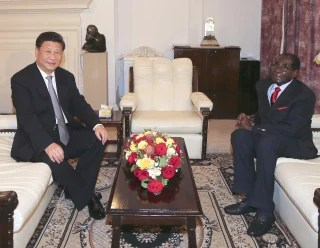 Image: Xi Jinping and Robert Mugabe