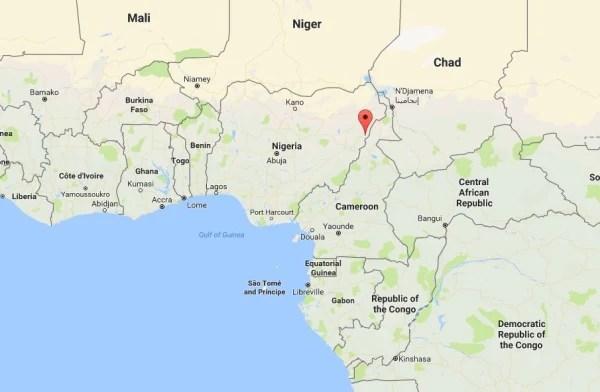 Image: Map showing Mubi, Nigeria