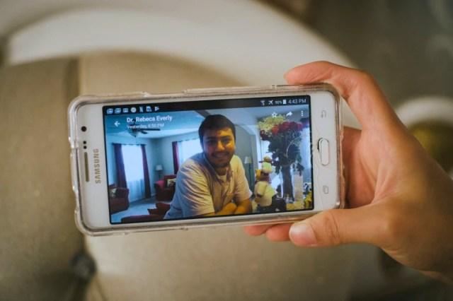 Image: Kubra Golge shows a portrait of her husband, Serkan Golge