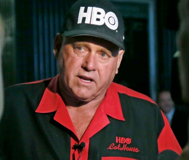 Dennis Hof Owner Of The Moonlite Bunnyranch A Legal Brothel Near Carson City Nevada Sits In An Interview During A Break In The Trial Of Denny Edward