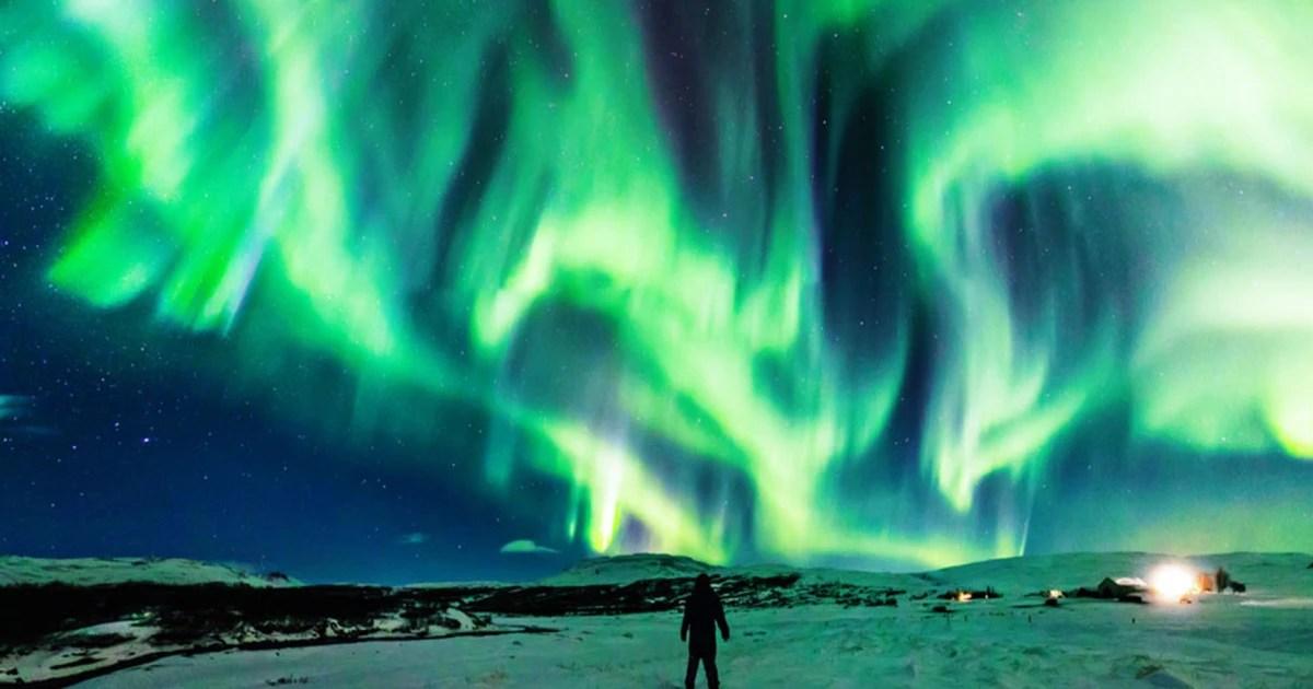 dragon aurora dancing over