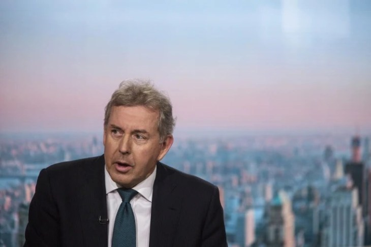Image: Kim Darroch, U.K. ambassador to the U.S., speaks during a Bloomberg Television interview in New York