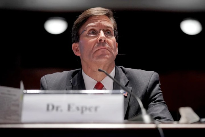 Secretary of Defense Mark Esper testifies during a House Armed Services Committee hearing on July 9, 2020.