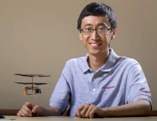 Pei Zhang's lab is crafting algorithms that can help miniature helicopters work together to explore and map out an unknown building, giving first re...