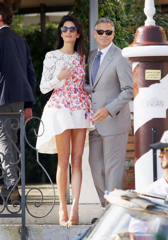 Amal Alamuddins style Looks we loved from her wedding weekend  TODAYcom