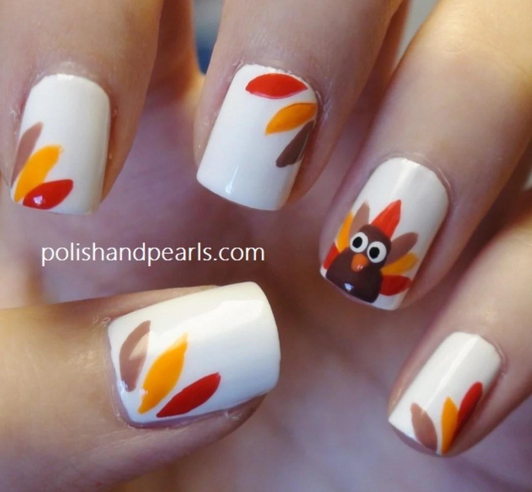 Image Thanksgiving Nail Art