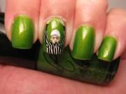 super bowl nail art seahawks