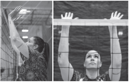Olympic volleyball player, Lindsey Berg: To soft block, position your hands back so you can deflect the ball up.
