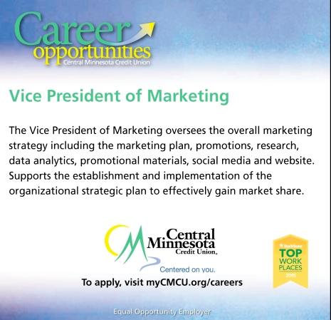 Vice President of Marketing  Central Minnesota Credit
