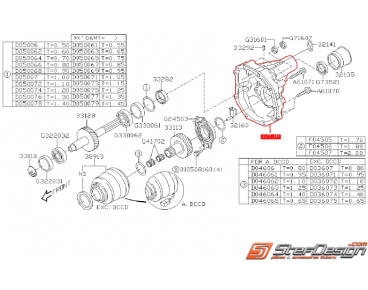 Carter d'extension de boite SUBARU STI 01-02