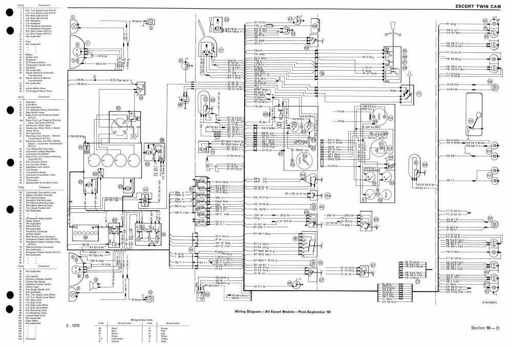 medium resolution of re wiring diagram for mk1 escort needed