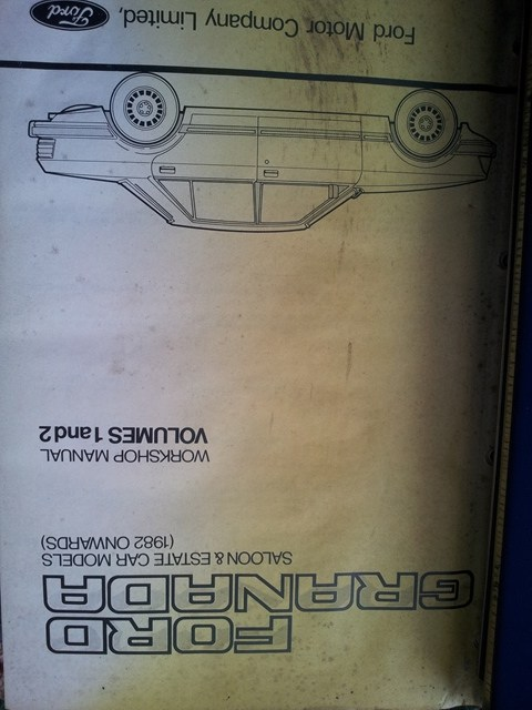 ford granada mk2 wiring diagram 1964 chevy truck color workshop manual genuine including diff gearboxes 4 and 5 speed plus auto it has diagrams covers carbs fuel injection pretty much anything you could wish for