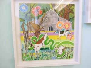"""Illustration från boken """"Kor kan drömma"""" på Wanås konstgalleri"""