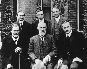 Freud, Jung, Jones, Ferenczi, Hall, Brill.