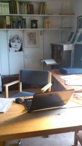 Min tillfälliga skrivarlya i Sara Lidman Gården