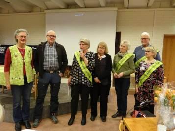Från vänster Ann-Sofi Freyhult, Lollo Gustin, Ann-Christine Svensson, Berit Karlsson, Maria Schartau, Stefan Boegård och Irene Tjerngren