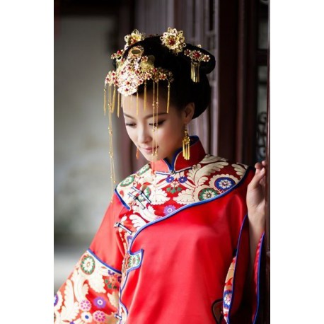 chinese traditional vintage bridal hair accessories fashion