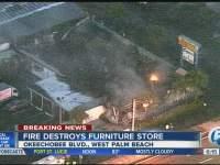 Sunniland Patio Furniture: Fire smoldering, roof collapses ...