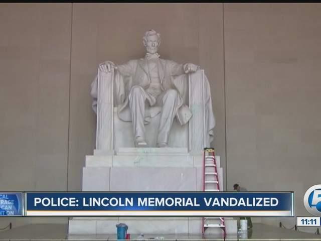 Lincoln Memorial vandalized No boundaries anymore  wptvcom