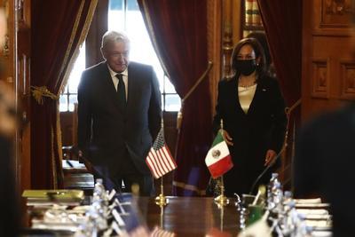 Kamala Harris realiza visita oficial a México; se reúne con AMLO