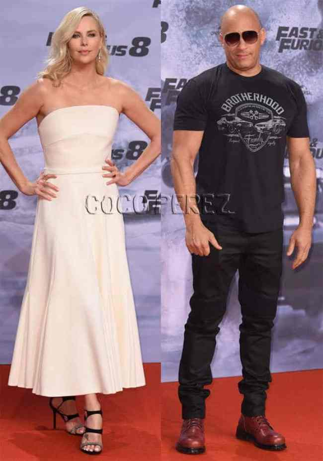 The premiere of Fast and Furious 8, Charlize Theron glam it up