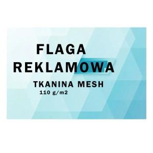 Flaga reklamowa tkanina mesh 110 gr/m2