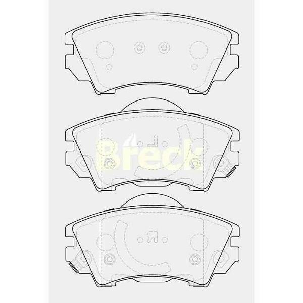 Klocki hamulcowe BRECK 24412 00 701 10 (Opel INSIGNIA