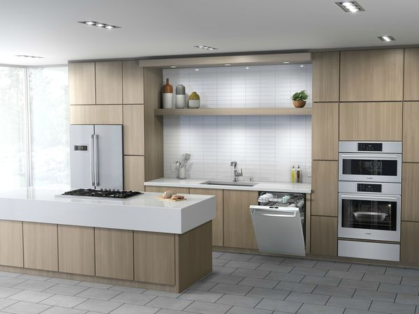 kitchen dishwashers commercial ceiling tiles bosch stainless steel home dishwasher installed flush with counters