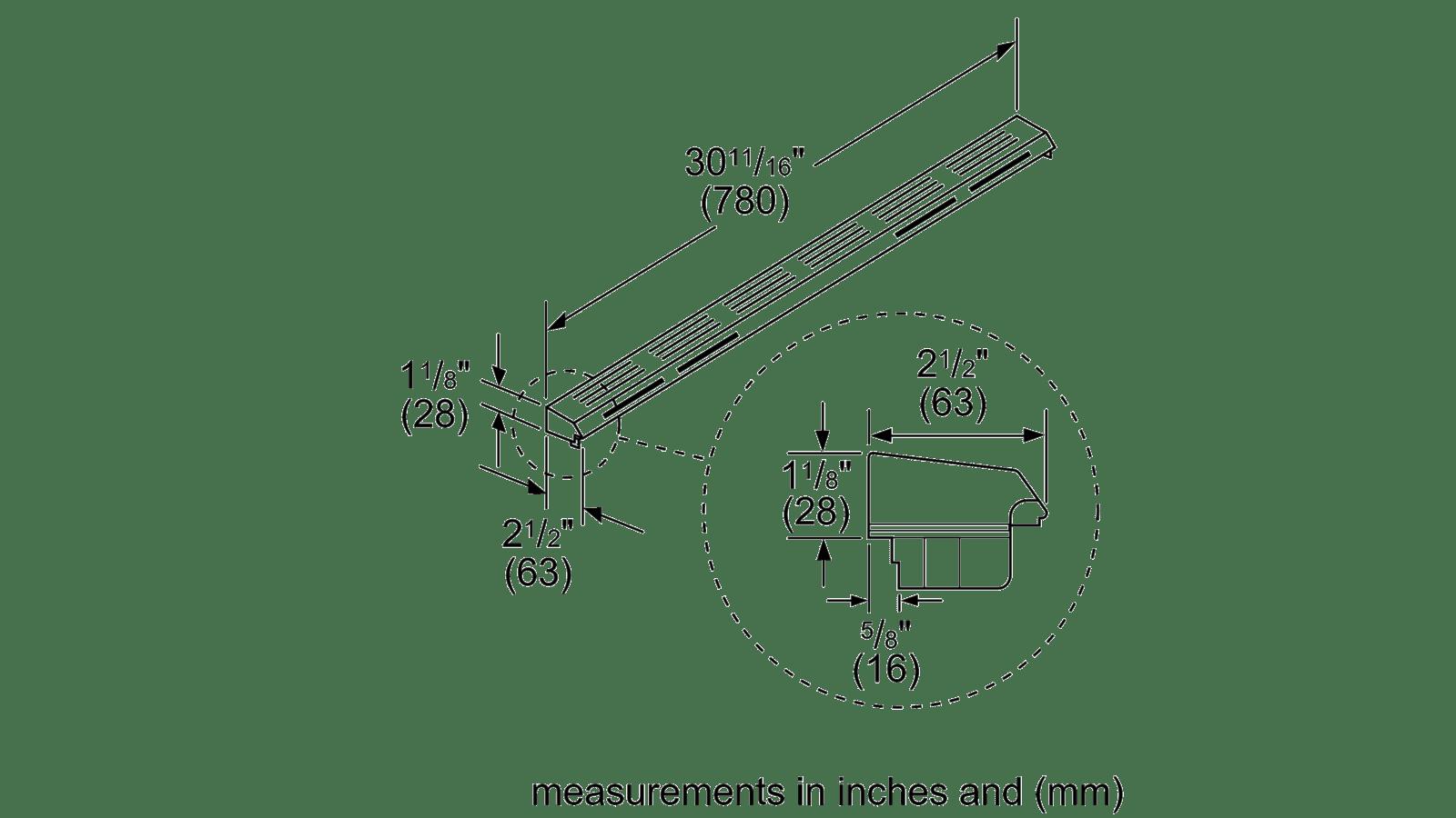 User manual Bosch HDZIT301 Island Trim Kit,Dual-Fuel Slide