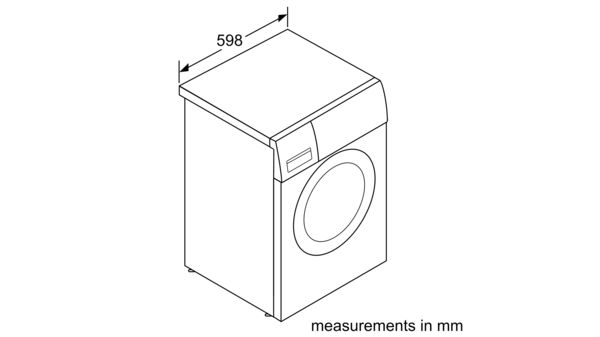 6 kg, 800rpm, White Front Load Washing Machine Classic