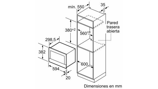 Microondas con Tecnología Innowave Maxx Cristal negro EAN