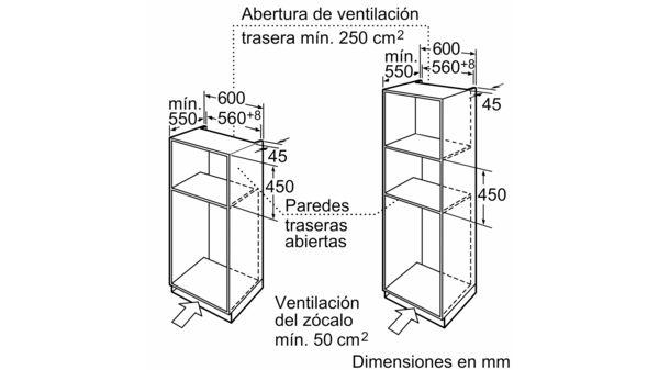 Horno microondas compacto Acero inoxidable EAN